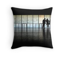 In a museum Throw Pillow