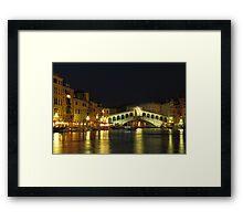 Rialto Bridge in Venice Framed Print