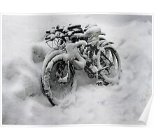Three Bicycles Poster