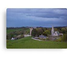 Borthwick Castle and Church Canvas Print