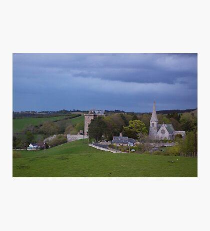 Borthwick Castle and Church Photographic Print