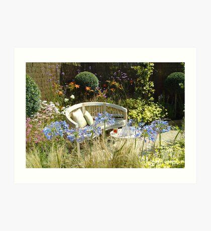 Garden seat Art Print