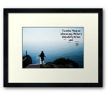 The Wanderluster Framed Print