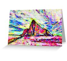 A Psychedelic Rock of Gibraltar Greeting Card