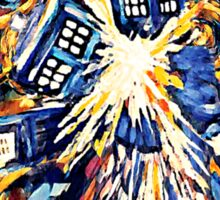 Big Bang Attack Exploded Flamed Phone booth painting Sticker