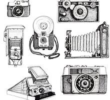Vintage Camera Collection by Elizabeth Rodriguez