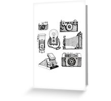 Vintage Camera Collection Greeting Card
