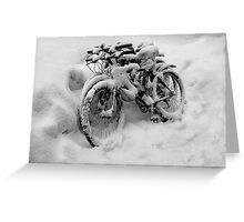 Three Bicycles in Black and White Greeting Card