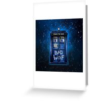 Space And Time traveller Wolf Greeting Card
