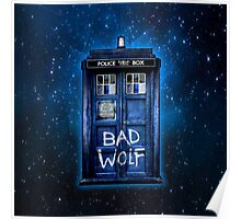 Space And Time traveller Wolf Poster