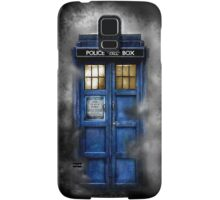 Haunted blue phone booth Samsung Galaxy Case/Skin
