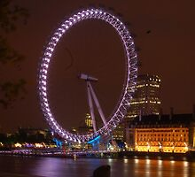 The London Eye at Night by Haylz9