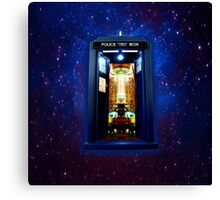 Space And Time traveller Box that More Bigger on the inside Canvas Print
