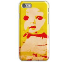 Scary Doll Screenprint #1 iPhone Case/Skin
