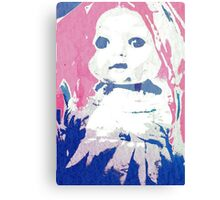 Scary Doll Screenprint #2 Canvas Print