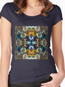Rich Colorful Glass Droplets Women's Fitted Scoop T-Shirt