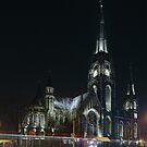 St. Elizabeth Church at Night by Oleksii Rybakov