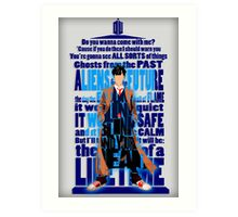 An Angel with all star red converse Shoes typograph Art Print