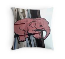 Seeing Pink Elephants? Throw Pillow
