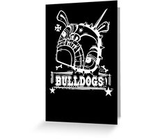 Grim the Bulldog III white on black Greeting Card