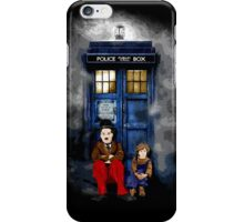 Charlie Chaplin with the kid waiting an Angel iPhone Case/Skin