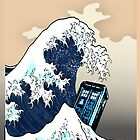 Space And Time traveller Box Vs The great wave by Arief Rahman Hakeem