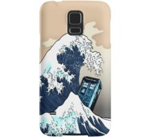 Space And Time traveller Box Vs The great wave Samsung Galaxy Case/Skin