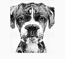 Black And White Boxer Dog Art By Sharon Cummings  Unisex T-Shirt