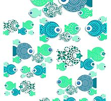 Teal Fish Team by PrivateVices