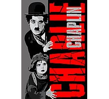 Charlie Chaplin with the kid sneak a peek Photographic Print
