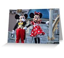 Micky and Mini Mouse Greeting Card