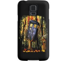 Haunted Blue Phone Box captured By witch Samsung Galaxy Case/Skin