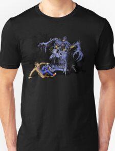 Weird Cursed British blue Phone box Monster Unisex T-Shirt