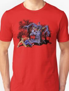 Weird Cursed British blue Phone box Monster T-Shirt