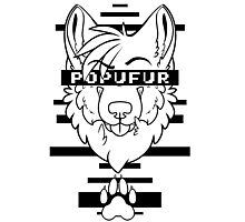 POPUFUR -black text- Photographic Print