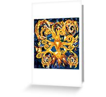 Exploded Phone booth Digital painting Greeting Card