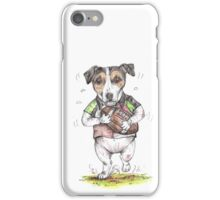 Rugby Player Jack Russell iPhone Case/Skin
