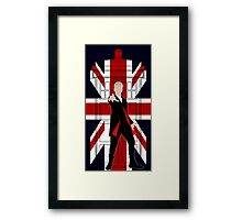 Union Jack British Flag with 12th Doctor Framed Print