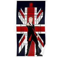 Union Jack British Flag with 12th Doctor Poster
