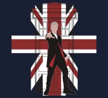 Union Jack British Flag with 12th Doctor Kids Clothes