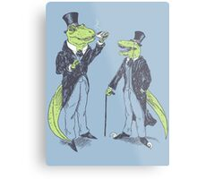 Tea Rex and Velo Sir Raptor Metal Print