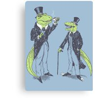 Tea Rex and Velo Sir Raptor Canvas Print