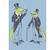 Tea Rex and Velo Sir Raptor Photographic Print