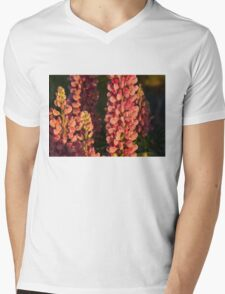 Hot Pink Lupines From My Mother's Garden Mens V-Neck T-Shirt