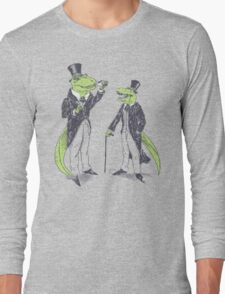 Tea Rex and Velo Sir Raptor Long Sleeve T-Shirt