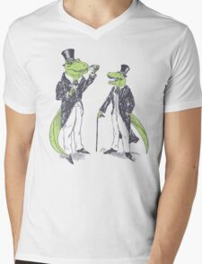 Tea Rex and Velo Sir Raptor Mens V-Neck T-Shirt