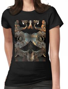 FRACTAL CORAL CHAMBER Womens Fitted T-Shirt