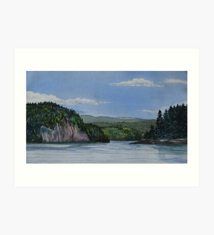 Entrance to Coldwell Ontario - watercolour Art Print