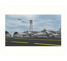 Harrier Base Art Print
