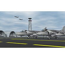 Harrier Base Photographic Print